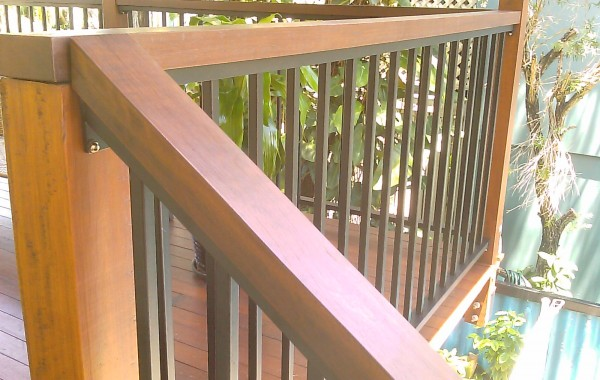 Balustrades with Timber top